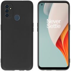 iMoshion Color Backcover OnePlus Nord N100 - Zwart