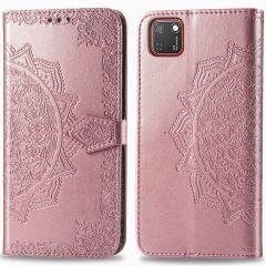 iMoshion Mandala Booktype Huawei Y5p - Rosé Goud
