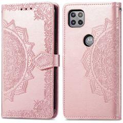 iMoshion Mandala Booktype Motorola Moto G 5G - Rosé Goud