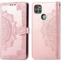 iMoshion Mandala Booktype Motorola Moto G9 Power - Rosé Goud