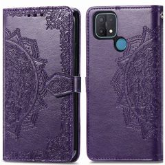 iMoshion Mandala Booktype Oppo A15 - Paars