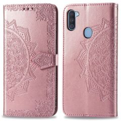 iMoshion Mandala Booktype Samsung Galaxy M11 / A11 - Rose Goud