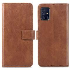 iMoshion Luxe Booktype Samsung Galaxy M31s - Bruin
