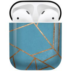iMoshion Design Hardcover Case AirPods - Blue Graphic