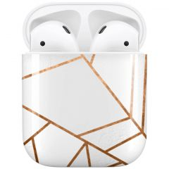 iMoshion Design Hardcover Case AirPods - White Graphic