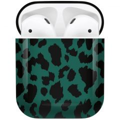 iMoshion Design Hardcover Case AirPods - Green Leopard