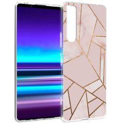 iMoshion Design hoesje Sony Xperia 1 II - Grafisch Koper - Roze
