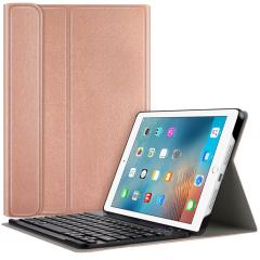 Bluetooth Keyboard Bookcase iPad 2 / 3 / 4 - Rosé Goud