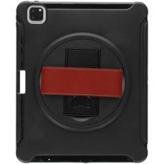 Defender Backcover met strap iPad Pro 12.9 (2020) - Zwart
