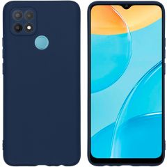 iMoshion Color Backcover Oppo A15 - Donkerblauw