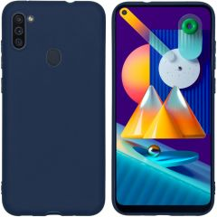 iMoshion Color Backcover Samsung Galaxy M11 / A11 - Donkerblauw