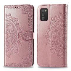 iMoshion Mandala Booktype Samsung Galaxy A02s - Rosé Goud