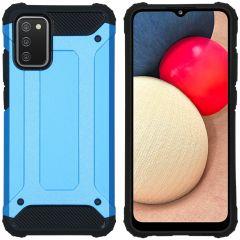 iMoshion Rugged Xtreme Backcover Samsung Galaxy A02s - Lichtblauw