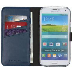 Selencia Echt Lederen Booktype Samsung Galaxy S5 (Plus) / Neo