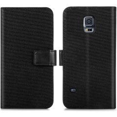 iMoshion Luxe Canvas Booktype Samsung Galaxy S5 (Plus) / Neo - Zwart