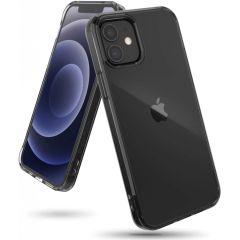 Ringke Fusion Backcover iPhone 12 (Pro) - Zwart