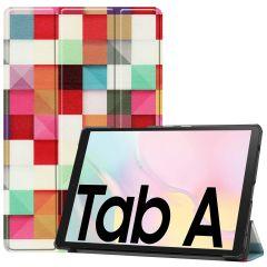 iMoshion Design Trifold Bookcase Galaxy Tab A7 - Kleurtjes