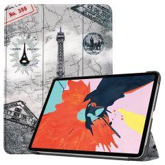 iMoshion Design Trifold Bookcase iPad Air (2020) - Parijs