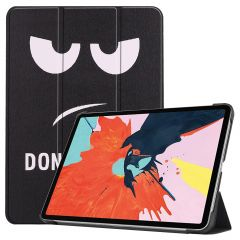 iMoshion Design Trifold Bookcase iPad Air (2020) - Don't Touch