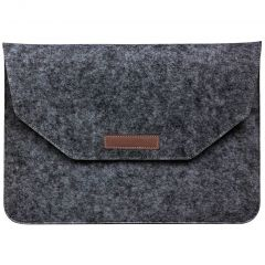 Vilten Soft Sleeve 15 inch - Donkergrijs