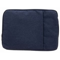 Donkerblauw textiel universele sleeve 15 inch