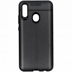 Lederen Backcover met stiksel Huawei P Smart (2019)