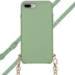 Selencia Aina Slang Hoesje met koord iPhone 8 Plus / 7 Plus - Groen