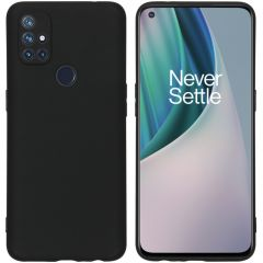 iMoshion Color Backcover OnePlus Nord N10 5G - Zwart