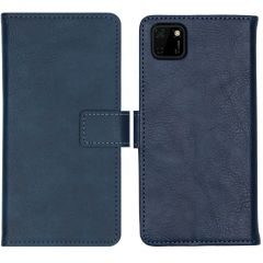 iMoshion Luxe Booktype Huawei Y5p - Donkerblauw