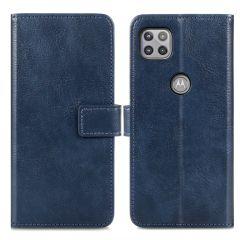 iMoshion Luxe Booktype Motorola Moto G 5G - Donkerblauw