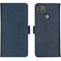 iMoshion Luxe Booktype Motorola Moto G9 Power - Donkerblauw