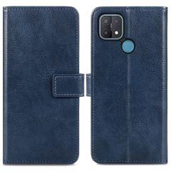 iMoshion Luxe Booktype Oppo A15 - Donkerblauw