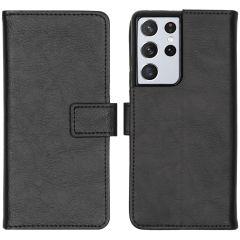 iMoshion Luxe Booktype Samsung Galaxy S21 Ultra - Zwart