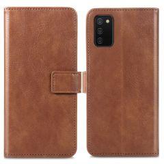 iMoshion Luxe Booktype Samsung Galaxy A02s - Bruin