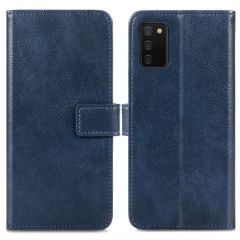 iMoshion Luxe Booktype Samsung Galaxy A02s - Donkerblauw