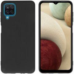 iMoshion Color Backcover Samsung Galaxy A12 - Zwart