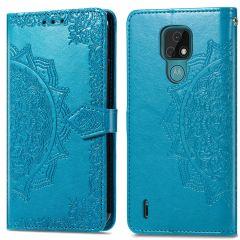 iMoshion Mandala Booktype Motorola Moto E7 - Turquoise