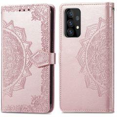 iMoshion Mandala Booktype Samsung Galaxy A72 - Rosé Goud