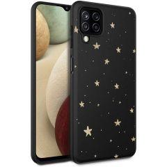 iMoshion Design hoesje Samsung Galaxy A12 - Sterren - Goud / Zwart