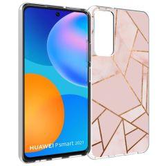 iMoshion Design hoesje Huawei P Smart (2021) - Grafisch Koper - Roze