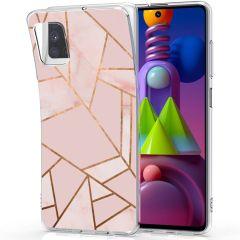 iMoshion Design hoesje Galaxy M51 - Grafisch Koper - Roze / Goud