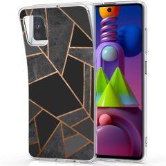 iMoshion Design hoesje Galaxy M51 - Grafisch Koper - Zwart / Goud
