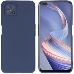iMoshion Color Backcover Oppo Reno4 Z 5G - Donkerblauw