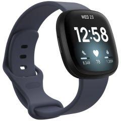 iMoshion Siliconen bandje Fitbit Sense / Versa 3 - Donkerblauw