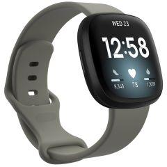 iMoshion Siliconen bandje Fitbit Sense / Versa 3 - Donkergrijs