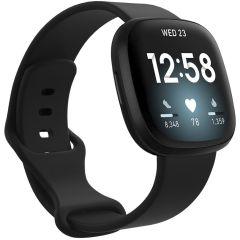 iMoshion Siliconen bandje Fitbit Sense / Versa 3 - Zwart