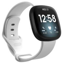 iMoshion Siliconen bandje Fitbit Sense / Versa 3 - Wit