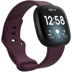 iMoshion Siliconen bandje Fitbit Sense / Versa 3 - Donkerrood