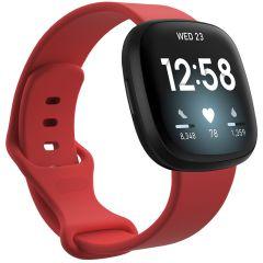 iMoshion Siliconen bandje Fitbit Sense / Versa 3 - Rood