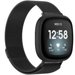 iMoshion Milanees Watch bandje Fitbit Sense / Versa 3 - Zwart